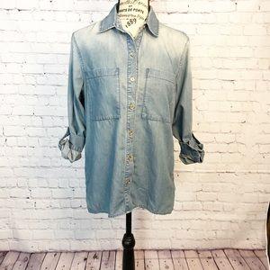 Michael Kors Chambray Button Down Shirt